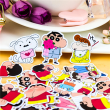 40pcs Creative cute Self-made crayon Shin-chan nowara shnnosuke scrapbooking stickers/decorative /DIY craft photo albums/
