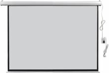vidaXL Elektrisk projektorskjerm med fjernkontroll 160x123 cm 4:3