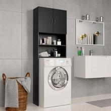 vidaXL vaskemaskineskab 64 x 25,5 x 190 cm spånplade sort