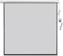 vidaXL Elektrisk projektorskjerm med fjernkontroll 200x200 cm 1:1