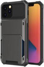 Flip Mobilskal Med Kortplatser Till Iphone 13 Pro Max - Svart