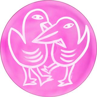 Kosta Boda Kosta Boda Fat Final Peace Birds 38,5 cm Rosa