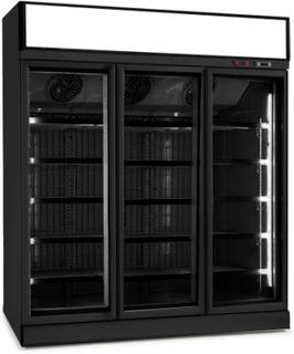 Køleskab 1530 liter - 3 glasdøre - Med topskilt