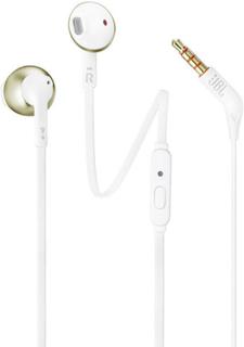 JBL T205 HiFi Hovedtelefoner In-ear Headset Champagne guld