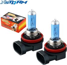 2Pcs H11 100W auto Super White Halogen Bulb Fog Lights High Power Car Headlights Lamp Car Light Source parking 5200K 12V