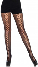Micronet Lace Up Pantyhose