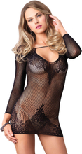 Long Sleeved Mini Dress - One Size