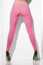 Opaque Footless Tights Neon Pink