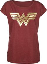 Wonder Woman - Golden Symbol -T-skjorte - rødmelert