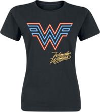 Wonder Woman - Neon Logo -T-skjorte - svart