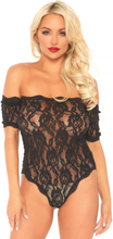 Lace teddy and bottom black S/M