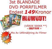 BLANDADE PORRFILMER - ENDAST 149kr FÖR 3st DVD