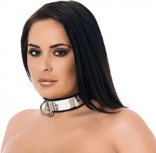 Rimba - Leather collar with metal and padlock