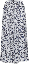 SELECTED Leaf Printed - Maxi Skirt Women White