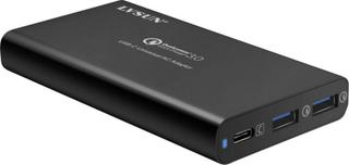 LVSUN 40W USB-C, QC3.0 1619440 LS-Q3U-PD USB-laddningsstation Vägguttag Utgångsström max. 9000 mA 3 x USB 3.0 A hona, USB-C hona USB Power Delivery (USB-PD)