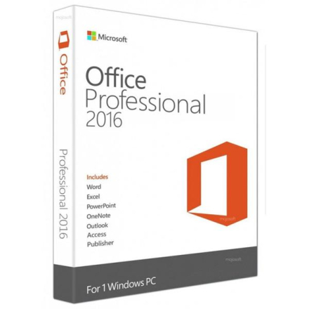 Microsoft Office 2016 Professional-Officepaket (SVE/ENG)