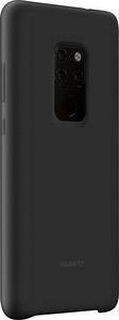 HUAWEI Silicon Case Mobiltelefon backcover Huawei Mate 20 Sort