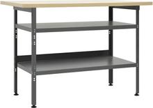 vidaXL Arbetsbänk grå 120x60x85 cm stål