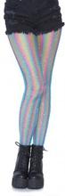 Lurex rainbow fishnet tights Blue