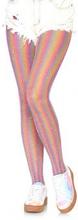 Lurex rainbow fishnet tights Pink