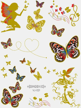 12 Stück Einweg-Tattoos-Aufkleber Bronzing Butterfly Waterproof Children Tattoo-Aufkleber