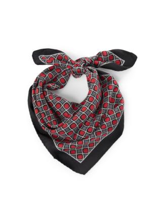Tørklæde 100% silke Fra Anna Aura rød - Peter Hahn