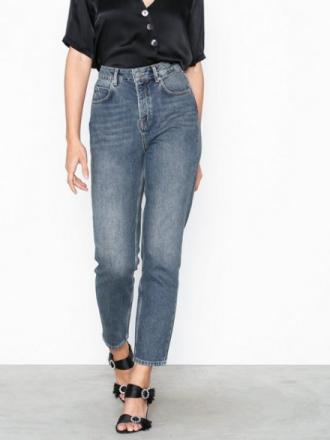 Selected Femme Slffrida Hw Mom Mid Blue Jeans W No