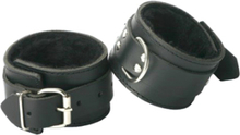 Strict Leather Fur Lined Ankle Cuffs