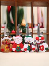 1Pc Frohe Weihnachten Messer Gabel Besteck Set Rock Hose Navidad Natal Esstisch Weihnachtsdekoration Für Zuhause Weihnac