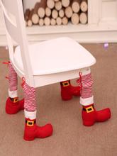 Christmas1Pc Dekorationen Tischbeinbezüge Home Decoration Esstisch Stuhl Schutzhülle Hocker Bein Weihnachtsstuhlhülle