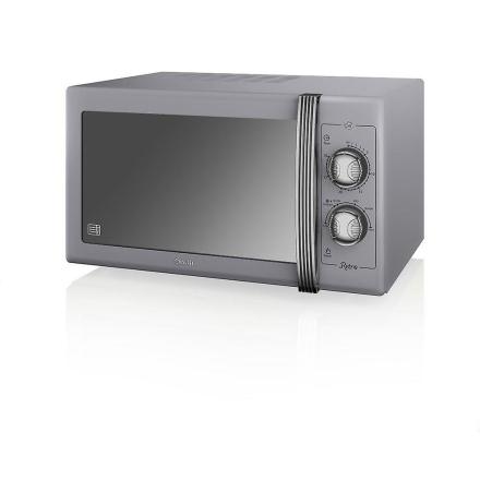 Svane produkter Retro manuel mikrobølgeovn - grå 25L C (Best.nr. SM...