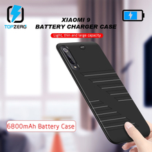 TOPZERO 6800 mAh Battery Charger Case For Xiaomi Mi 9 Portable Larger Capacity Fast Charging Power Bank Back Clip For Mi 9