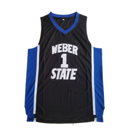 Damian Lillard #1 Weber State Wildcats Stitched Jersey Adult College S-2XL Black