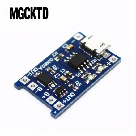 5pcs Micro USB 5V 1A 18650 TP4056 Lithium Battery Charger Module Charging Board With Protection Dual Functions 1A Li-ion