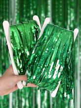 Happy St. Patrick's Day Hintergrund Regen Vorhang Fransen Folie Glitter Vorhang Party begünstigt Lieferungen Regen für F