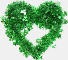 Glücklicher St. Patrick's Day Grünes Kleeblumenband Anhänger Hochzeit Haustür Wandhof Indoor Outdoor Irische Party Dekor