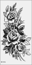 40 Stück temporäre Tattoos wasserdichte Blume Rose Wassertransfer Tattoo Aufkleber