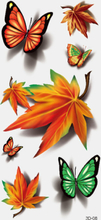 40 Stück 3D Stereo wasserdichte Tattoos Aufkleber Scorpion Flower Water Transfer Tattoo Aufkleber
