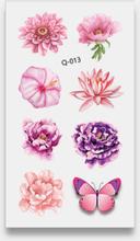32 Stück wasserdichte temporäre Tattoos Aufkleber Kleine frische Rose Wassertransfer Tattoo Aufkleber