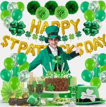 70 PCS Irish Party Event Dekor Set Happy St. Patrick's Day Grüner Klee Brief Latex Ballon Konfetti Hausgarten Indoor Out