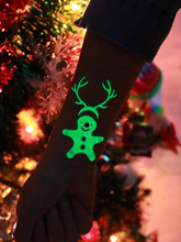 Christmas Luminous Temporary Tattoo Stickers Carnival Party Body Arm Water Transfer Paper