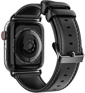 Dux Ducis Apple Watch Series 4/3/2/1 Læderrem - 42mm, 44mm - Sort