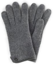 Handschuh aus gewalkter Schurwolle Roeckl grau
