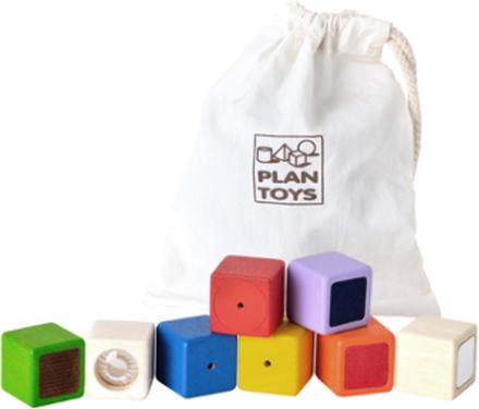 Sensoriska klossar (Plan Toys)