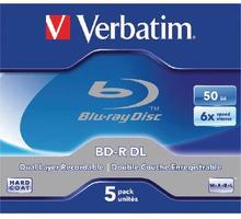 Blu Ray BD-R Verbatim 50GB 5-pack Double Layer 6X, Scratchguard surface