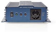 Nedis Strömväxelriktare, ren sinusvåg | 12 V DC - 230 V AC | 600 W | 1x Schuko-uttag