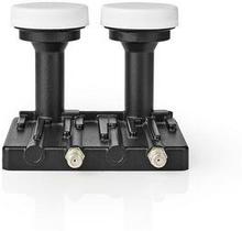 Nedis LNB | Twin Monoblock 6,0 ° | Utgångsanslutning: 2x F-kontakt | Brusfaktor omfång: 0.85 dB | Omvandlingsförstärkning: 52-67 dB | Svart