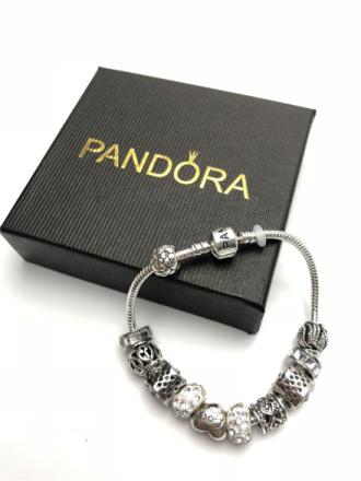 Women pandora bracelet charms silver 925 original pandora watch Luxury Ladies Watches Classic Acrylic 21 color Beaded Bracelets