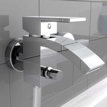 SCHÜTTE blandingsbatteri til badekar med vandfaldstud CASCATA krom