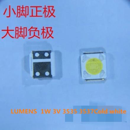 50Piece/lot for repair LUMENS D3GE-400SMB-R3 D2GE-320SC0-R3 D3GE-460SMA-R2 LED Backlight SMD LEDs 1W 3V 3535 3537 Cold white